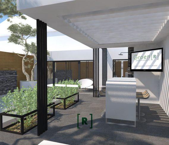 luxe zwembad jetstream overkapping bubbelbank vaste strap_tuinarhitect minimalistisch tuinontwerp design modern