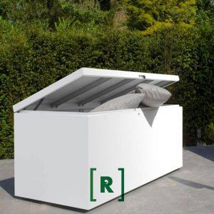 Afsluitbare opbergbox voor tuinkussens en tuinspullen